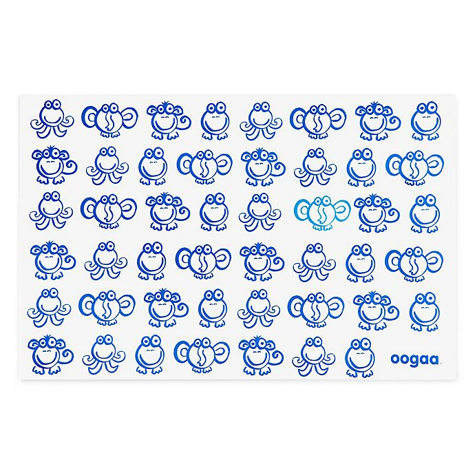 Alternate image 1 for oogaa® Reusable Silicone Placemat in Blue