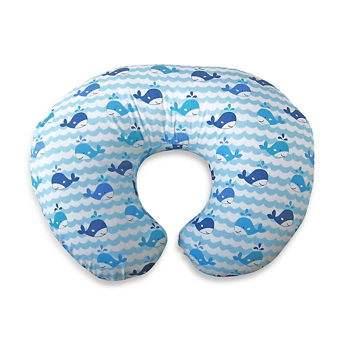 Alternate image 1 for Boppy® Infant Feeding/Support Pillow with Whale Watch Slipcover