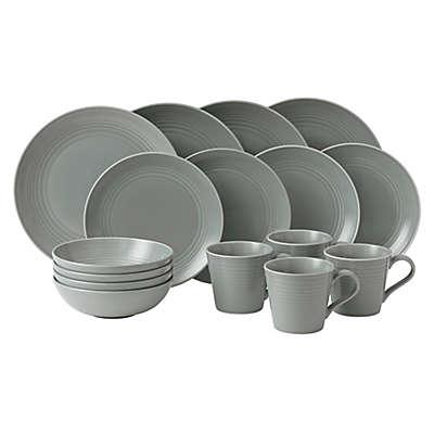 Gordon Ramsay by Royal Doulton® Maze 16-Piece Dinnerware Set in Dark Grey
