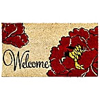 Welcome Poppy Coir Door Mat Insert
