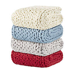 Laura Hill Felted Chunky Knit Throw Blanket