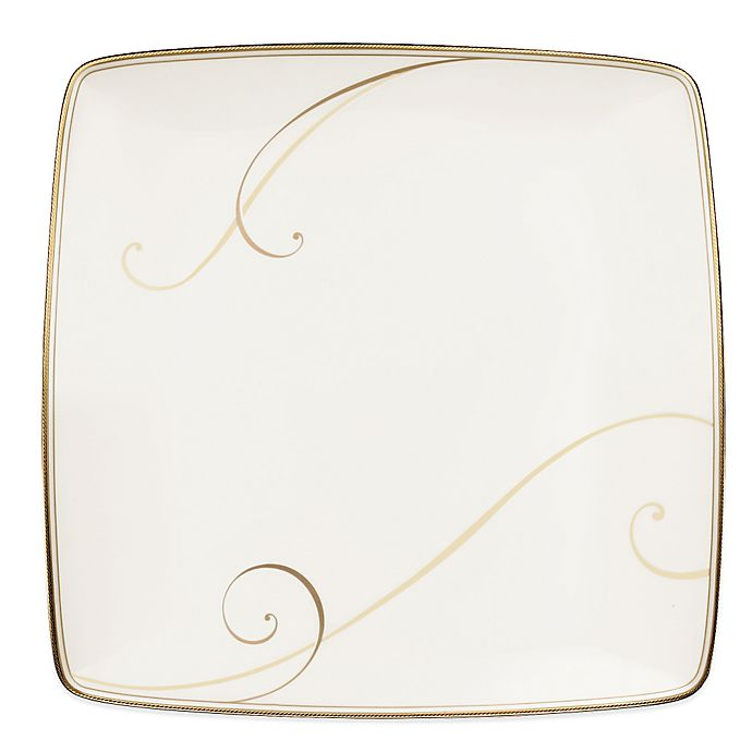 Alternate image 1 for Noritake® Golden Wave Large Square Accent Plate