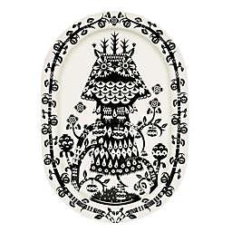 Iittala Taika Oval Platter in Black