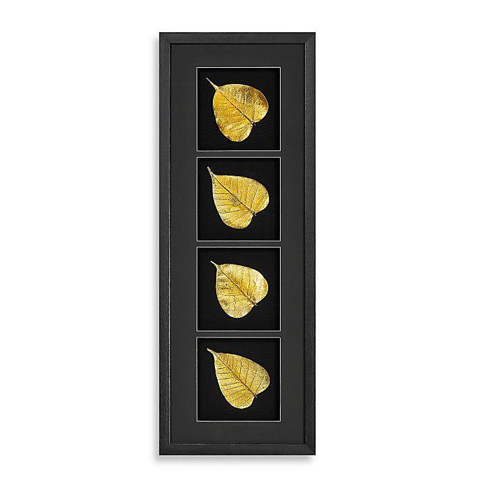 Alternate image 1 for Gold Foil Maple Leaf Shadowbox Wall Panel