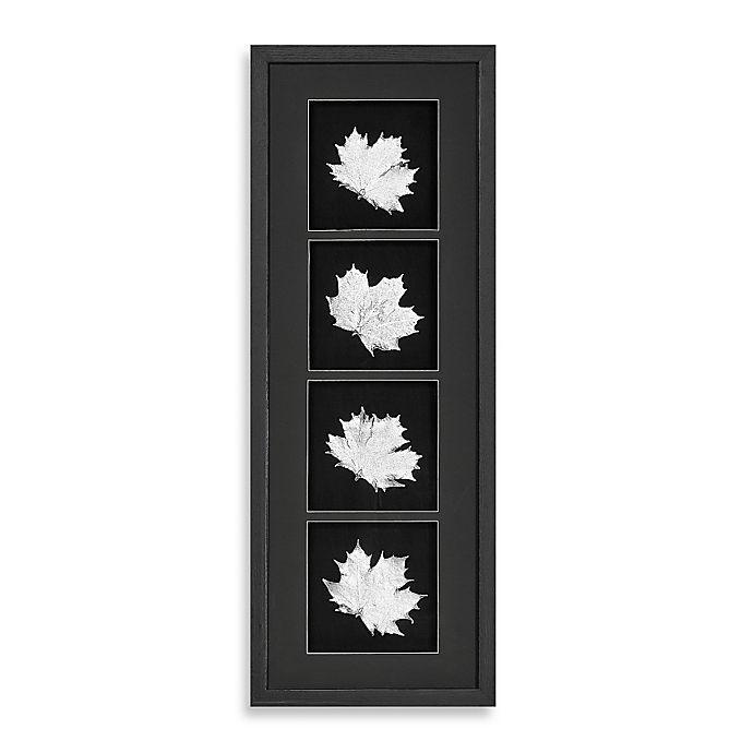 Alternate image 1 for Silver Foil Leaf Shadowbox Wall Panel