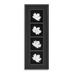 Silver Foil Leaf Shadowbox Wall Panel