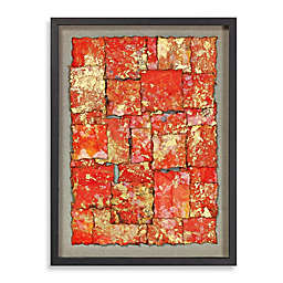 Stretched Paper Gold Leaf Shadowbox Wall Décor