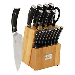 Emeril Forged Double-Riveted 17-Piece Knife Block Set