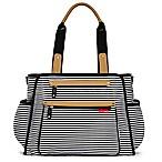 SKIP*HOP® Grand Central Take-it-All Diaper Bag in Black Stripe