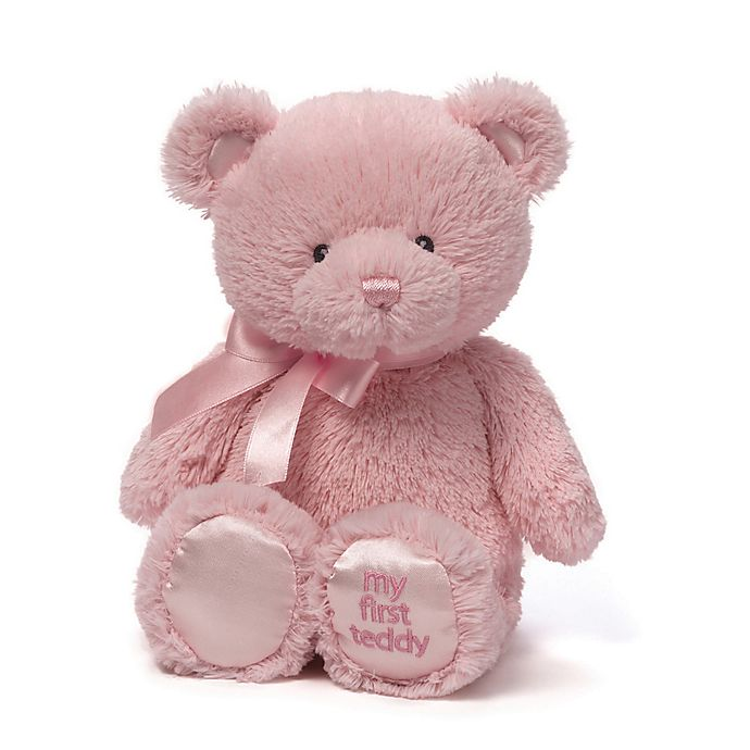 Alternate image 1 for Gund® My First Teddy 10-Inch Plush Toy in Pink