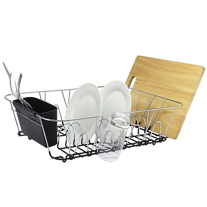 Org Large Dish Rack In Chrome Bed Bath Amp Beyond