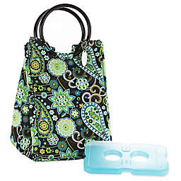Fit & Fresh® Retro Insulated Lunch Bag with Ice Pack in Green Paisley