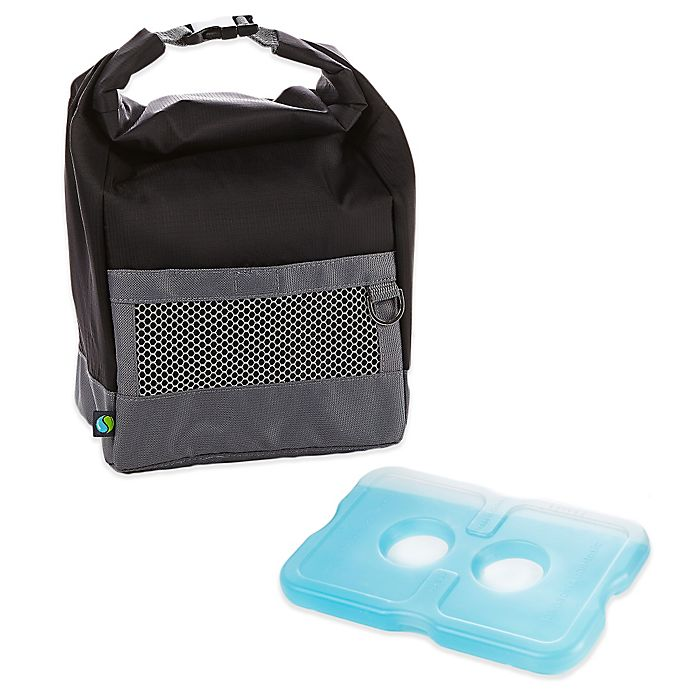 Fit Fresh Sporty Insulated Lunch Bag With Ice Pack In Black