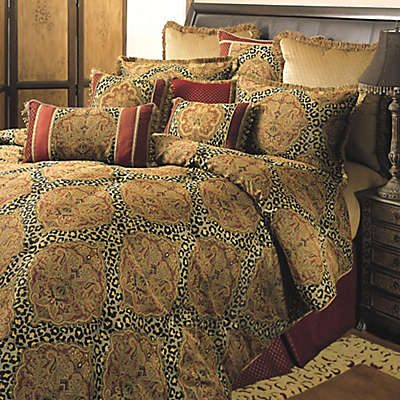 Sherry Kline Regal Comforter Set in Red/Gold