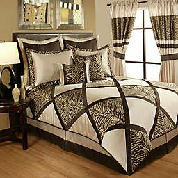 Sherry Kline Zebra Comforter Set in Taupe/Brown