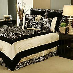 Sherry Kline Zumalay Comforter Set in Tan/Gold