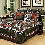 Sherry Kline Jungle California King Comforter Set in Black/White