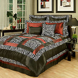 Sherry Kline Jungle Comforter Set in Black/White