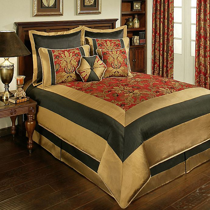 Alternate image 1 for Sherry Kline Milano Queen Comforter Set in Red