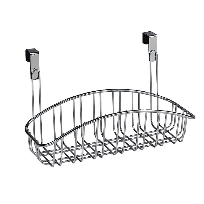 Spectrum Small Contempo Over The Cabinet Door Basket In Chrome