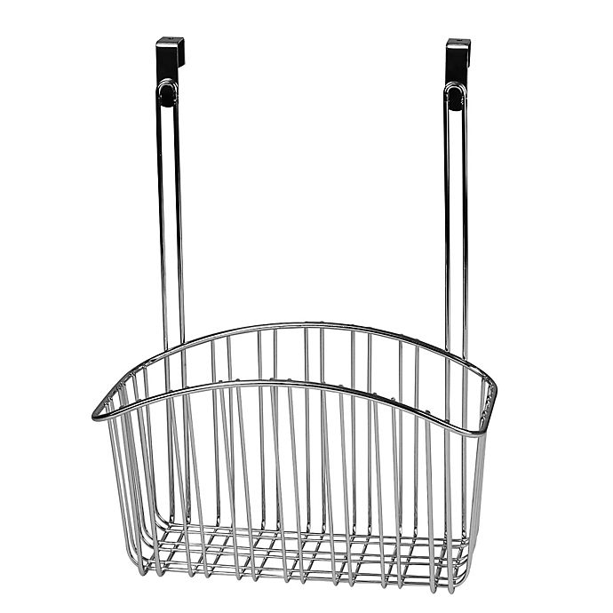 Spectrum Large Contempo Over The Cabinet Door Basket In Chrome
