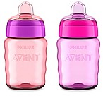 Philips Avent 2-Pack 9 oz. My Easy Sippy Cup in Pink/Purple