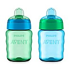 Philips Avent 2-Pack 9 oz. My Easy Sippy Cup in Blue/Green