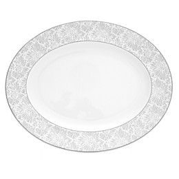 Vera Wang Wedgwood® Vera Chantilly Lace Oval Platter in Grey