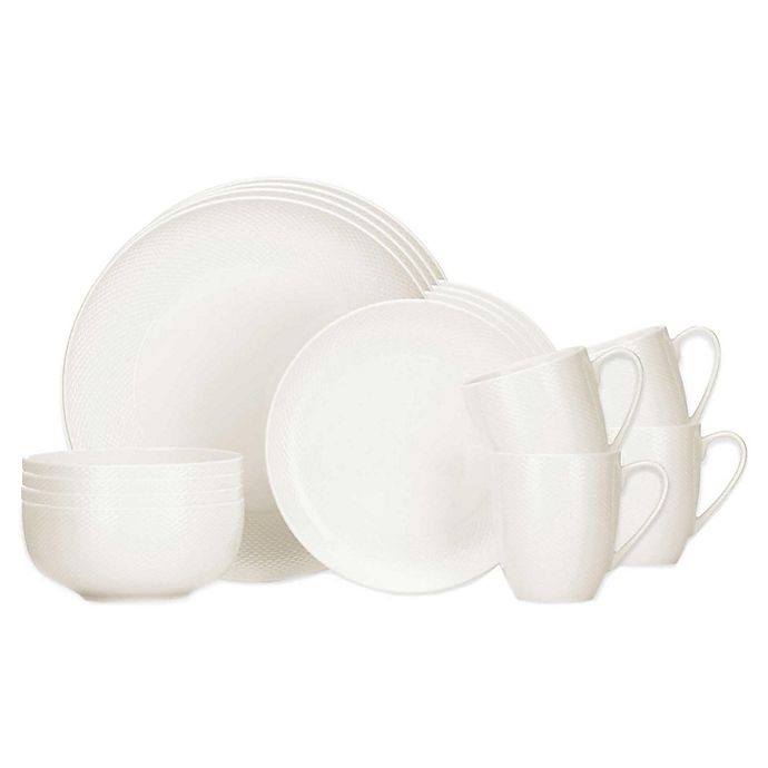 Alternate image 1 for Lenox® Largo 16-Piece Dinnerware Set in White