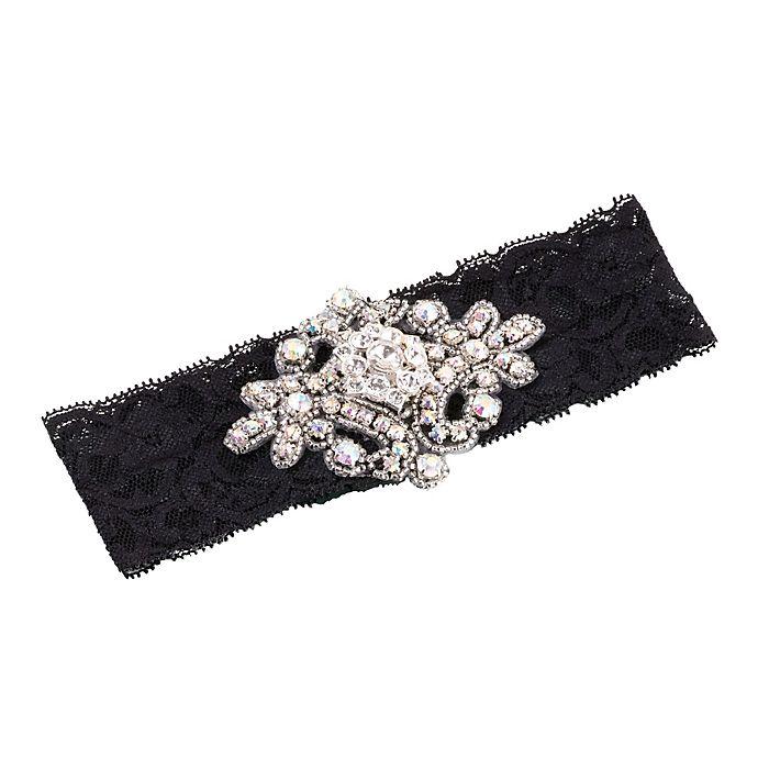 Alternate image 1 for Lillian Rose™ Jeweled Garter in Black