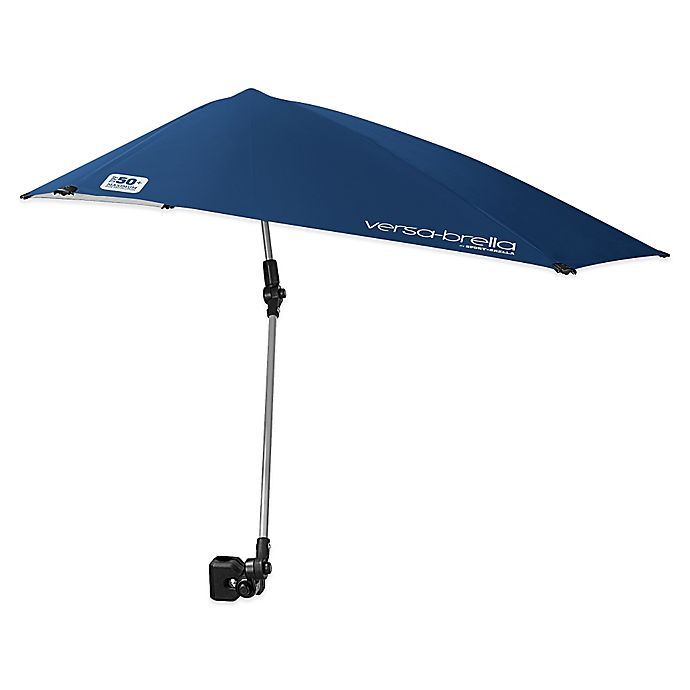 Alternate image 1 for Sport-Brella Versa-Brella All-Position Beach Umbrella with Universal Clamp in Blue