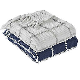 Tahari Home Jordan Grid Throw Blanket