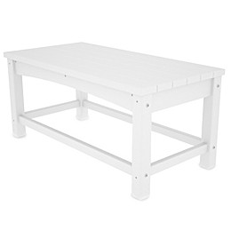 POLYWOOD® Club Coffee Table in White