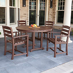 POLYWOOD® La Casa 5-Piece Outdoor Dining Table Set in Mahogany