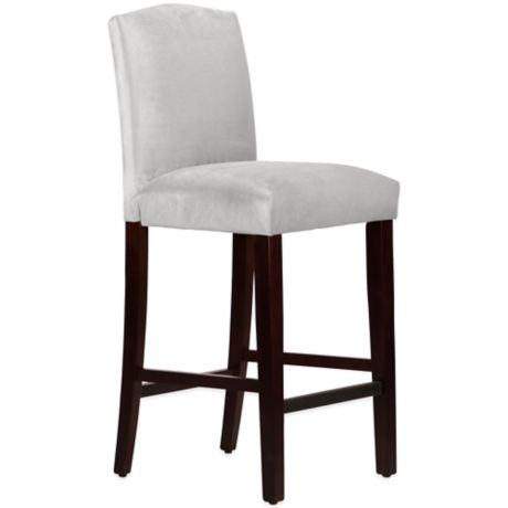 Skyline Furniture Diana Arched Bar Stool In Mystere Dove