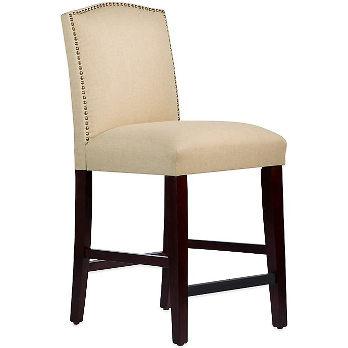 Alternate image 1 for Skyline Furniture Roselyn Nail Button Arched Counter Stool in Linen Sandstone