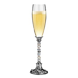 Lillian Rose™ Beaded Toasting Flutes in Silver (Set of 2)