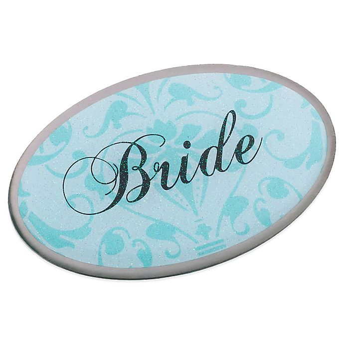 Alternate image 1 for Lillian Rose™ Bride Oval Pin in Aqua