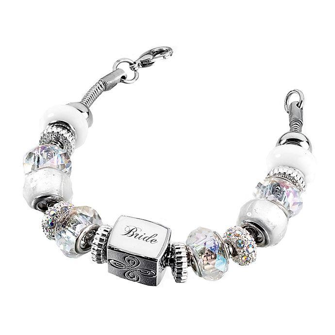 Alternate image 1 for Lillian Rose™ Bride Charm Bracelet