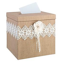 Lillian Rose™ Burlap and Lace Card Box