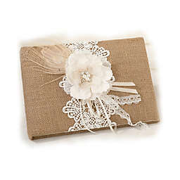 Lillian Rose™ Burlap and Lace Guest Book