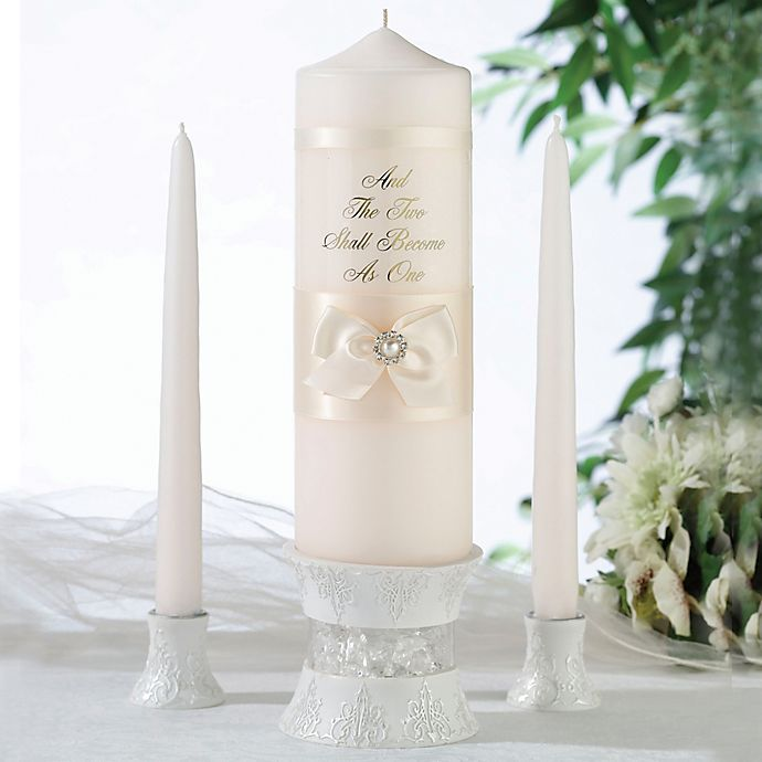 Alternate image 1 for Lillian Rose™ 3-Piece Pearl Candle Set in Ivory