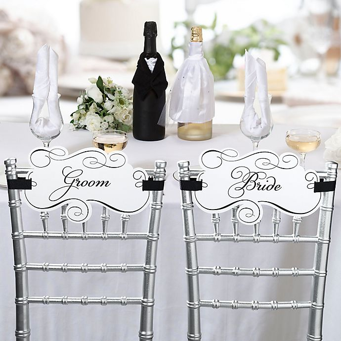 Alternate image 1 for Lillian Rose™ Bride and Groom Chair Signs