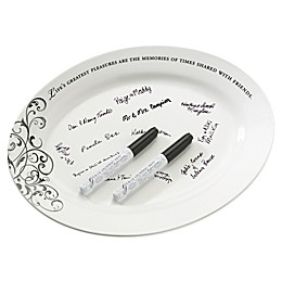 Lillian Rose™ Oval Ceramic Sign Plate with Pens