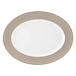 Waterford® Lismore Diamond Oval Platter in Gold
