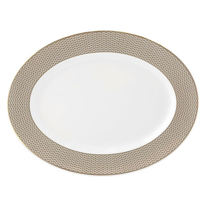 Alternate image 1 for Waterford® Lismore Diamond Oval Platter in Gold