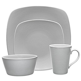 Noritake® Grey on Grey Swirl Square Dinnerware Collection