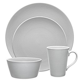 Noritake® Grey on Grey Swirl Round Dinnerware Collection