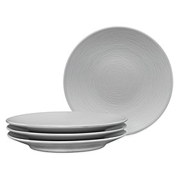 Noritake® Grey on Grey Swirl Appetizer Plates (Set of 4)