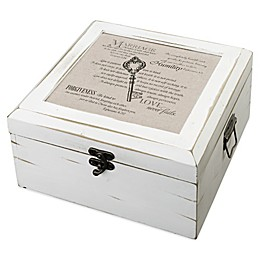 Lillian Rose™ Christian Elegance Card Box in Antique White